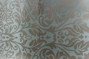 Thibaut Wallpaper - Roma, Metallic on Seaglass 839-T-7653