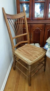 Before shot of the Wheat Backed Chair.