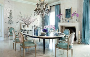 Ozzy & Sharon Osbourne's Home by Martyn Lawrence Bullard Designs.  Love that Turquoise!