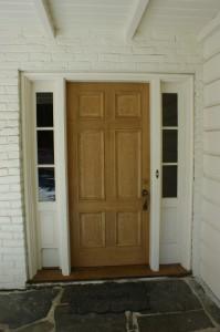 Before shot of my Front Door.