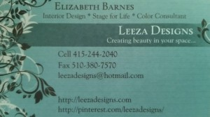 My business card in Peacock Blue