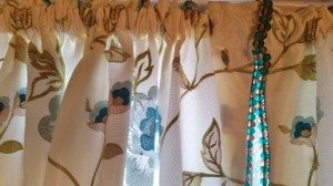 Turquoise and Brown Beaded Trim by Houles